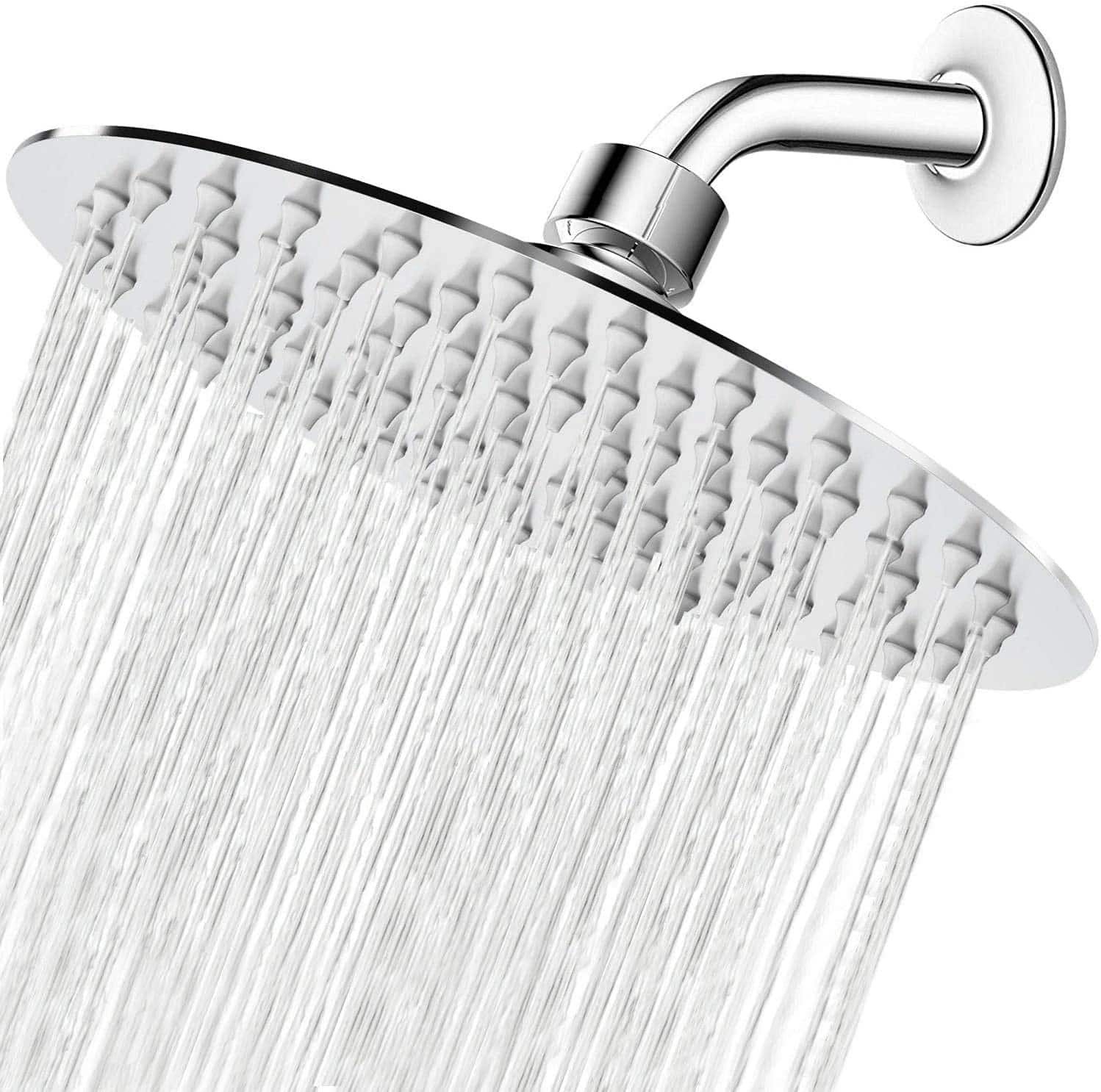 8 Inch Stainless Steel Rainfall Shower Head $13.99