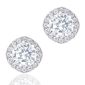 Orrous & Co 18k White Gold Halo Stud Earrings (1.90 carats) $16.99 FS Prime