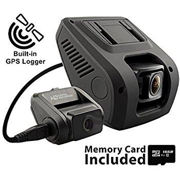V1LG HD Dual Channel 1080p Dash Cam $127.49 + Free Shipping