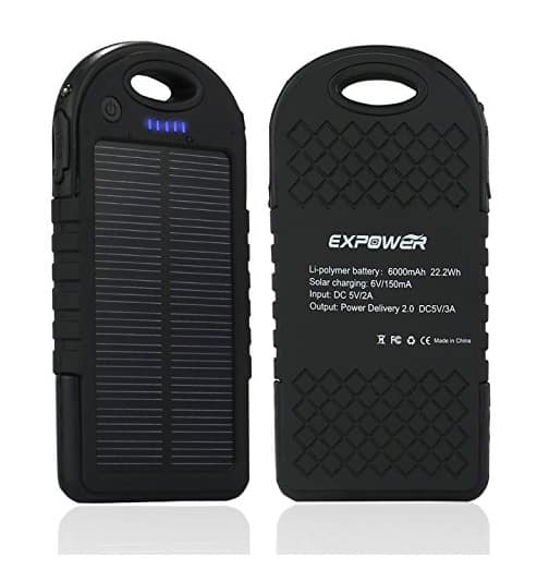 Solar Charger 6000mAh Solar charging Panel Power Bank - $15.99 AC + FS