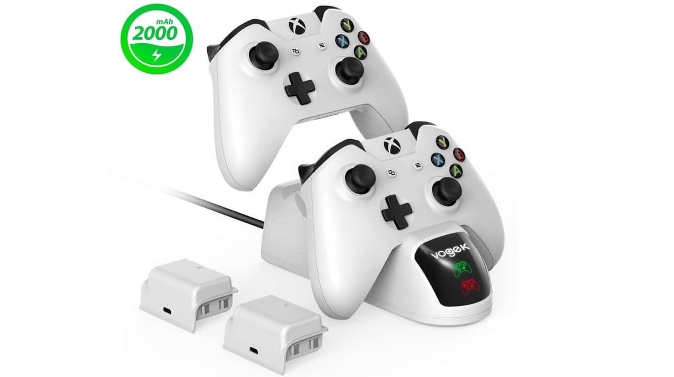 Xbox One - Dual Slot Controller Charging Station with 2 Pack 2000mAh -  $27.99 AC + FS