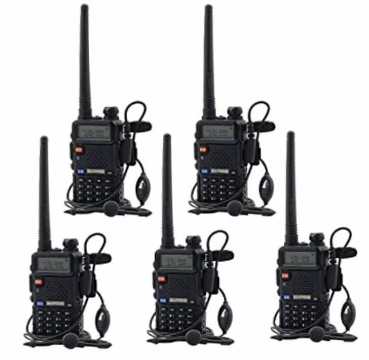 UHF VHF Dual Band Two Way Radio Walkie Talkie with 5 Earpieces @ amazon $99.99