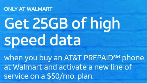 AT&T Prepaid: UNL Talk & Text + 25GB for $40/mo  with
