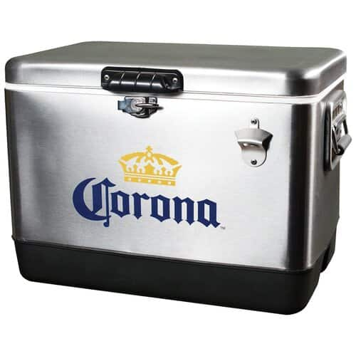 Amazon Prime (Backorder): Corona 54-Quart Stainless Steel Ice Chest by Koolatron (CORIC54), Fits 85 Cans $79.38