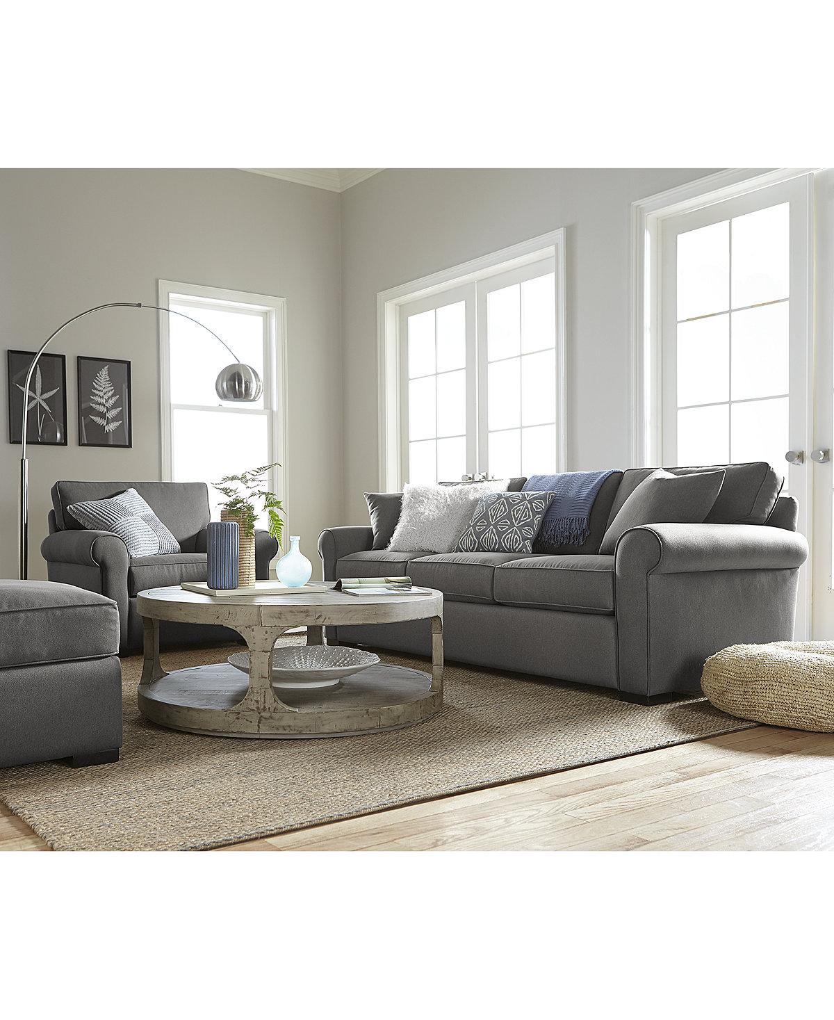 $599 Astra Fabric Sofa, Created For Macy's