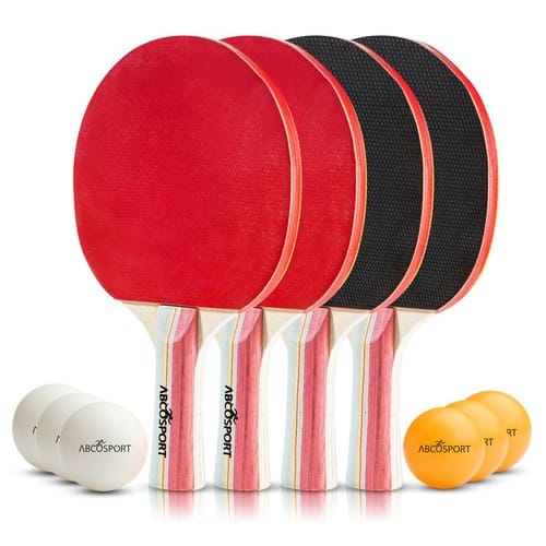 Table Tennis Set - Pack of 4 Paddles/Rackets and 6 Table Tennis Balls - $18.69 w/ Code - Free Shipping w/ Prime