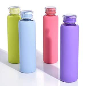 Glass Water Bottles - $7.99 w/ Code + Free Shipping w/ Prime