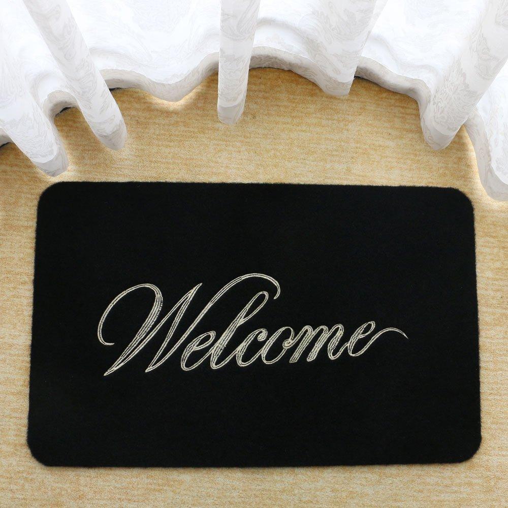 "18"" x 30"" Black ""Welcome"" Doormat - $5.99 w/Code + Free Shipping w/Amazon Prime"