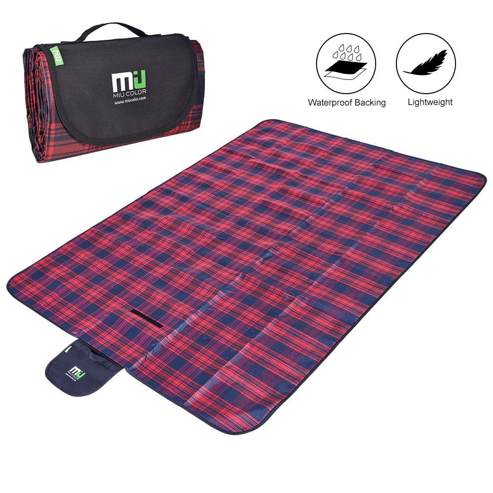 Compact Water Resistant Picnic Blanket - $9.50 w/Code + Free Shipping w/Amazon Prime
