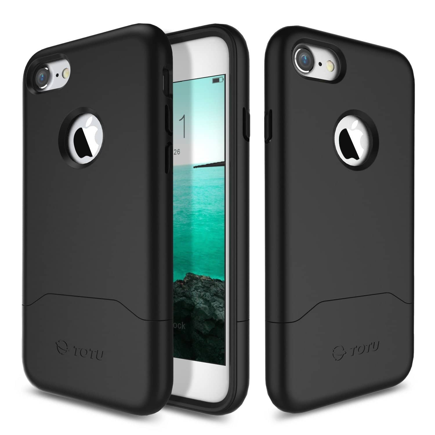 Black Heavy Duty iPhone 7 Phone Case - $2 w/Code + Free Shipping w/Prime
