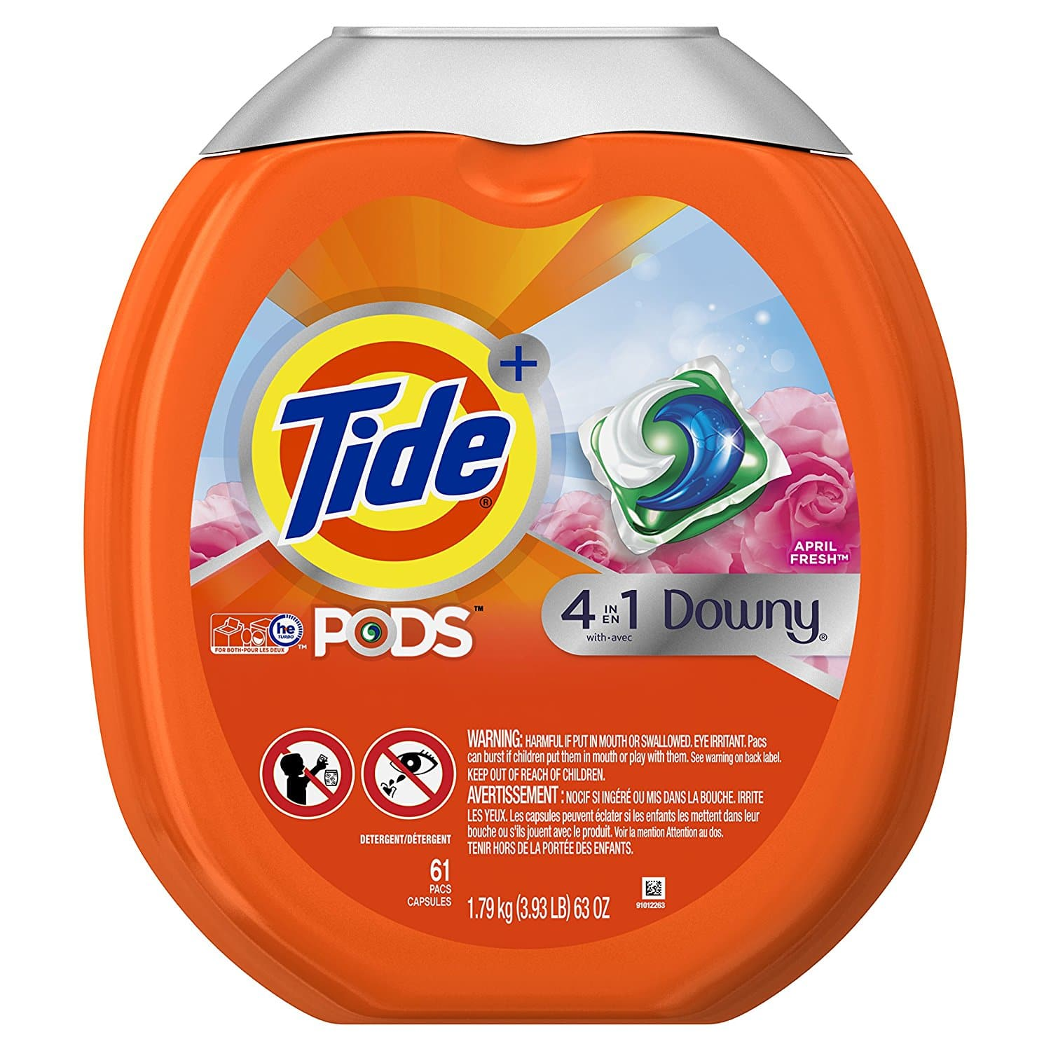 Tide Pods Plus Downy 4-in-1 (61 count) - $13.63 w/ Subscribe & Save + Free Shipping w/Prime
