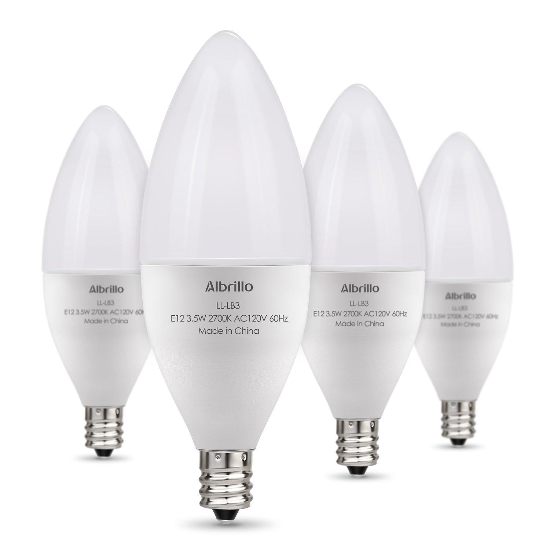 4-Pack of 40 Watt Equivalent E12 LED Bulbs - $7.67 w/Code + Free Shipping w/Prime