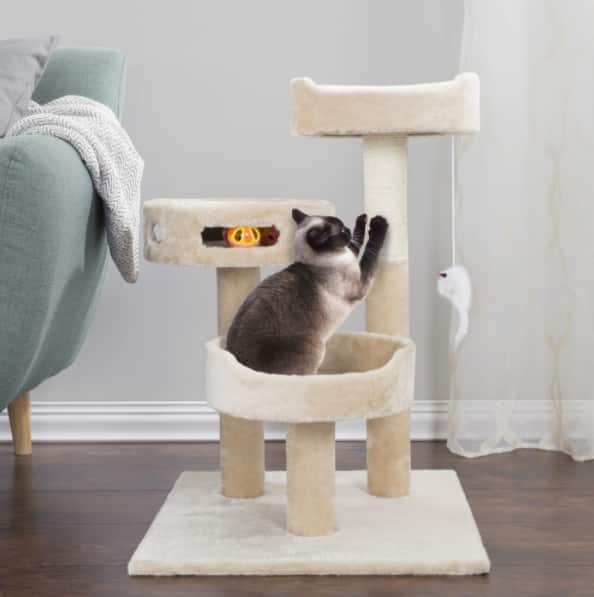 "27.5"" Petmaker 3-Tier Cat Tree - $40.99"