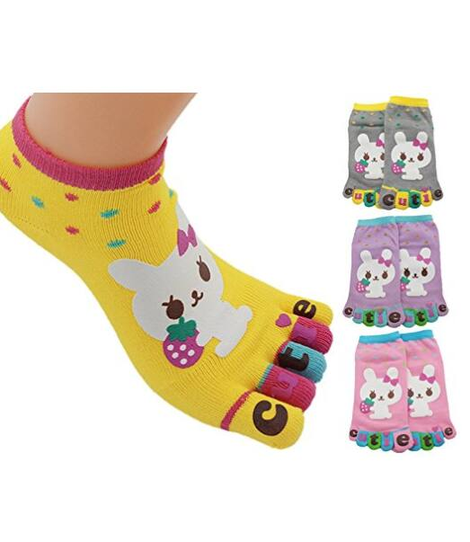 4 Pack Kid's Split 5 Toes Crew Toe Socks -   $3.99 w/Code + Free Shipping w/Prime