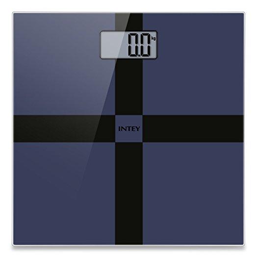 INTEY Digital Bathroom Scale w/ Large LCD Display (Blue) - $8.10 w/Code + Free Shipping w/Prime