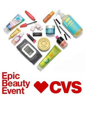 CVS: Epic Beauty Event: Over $100 in Savings Available