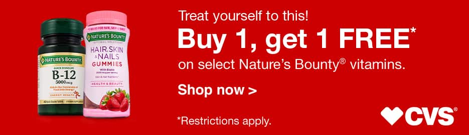 CVS: Buy 1, get 1 FREE on select Nature Made® vitamins