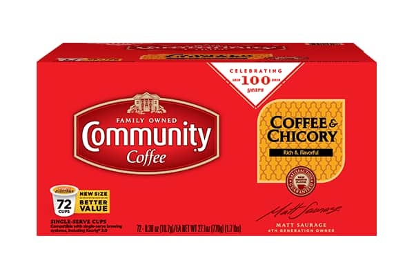 Community Coffee: Buy One Get One FREE: 72-ct K-cups (5 Flavors) $44.99