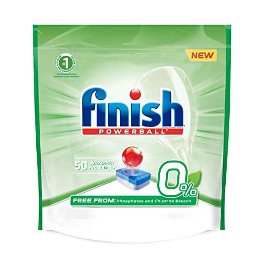 50-ct Finish Powerball 0% Dishwasher Detergent Tablets - $7.83 + Free Prime Shipping after 5% S&S + $5 Slickdeals Rebate