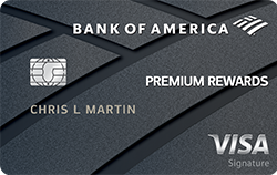 Bank of America® Premium Rewards® Visa® credit card: 50K bonus points w/ $3K in eligible purchases