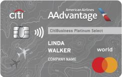 CitiBusiness® / AAdvantage® Platinum Select® World Mastercard®: Earn 70,000 American Airlines AAdvantage® bonus miles