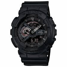 Casio ga110mb-1a men's g-shock alarm ana-digi black dial black resin strap quartz dive watch $54.99