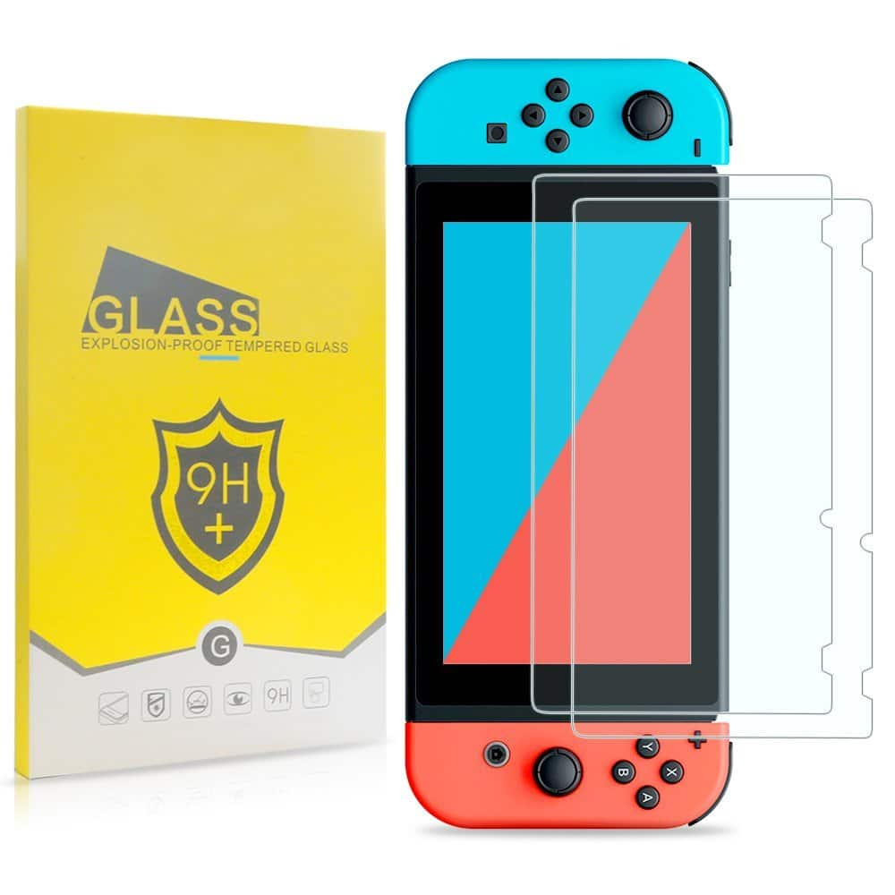 Nintendo Switch Screen Protector, 2 Piece Tempered Glass - $3.98
