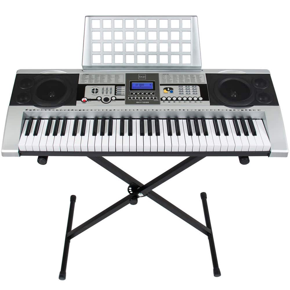 Electronic Piano Keyboard 61 Key Music Key Board Piano With X Stand Heavy Duty - $59.99