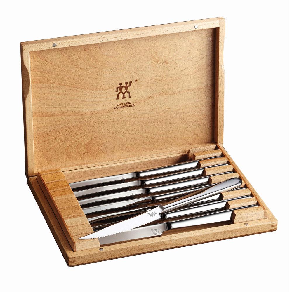 ZWILLING J.A. Henckels 8-pc Stainless Steel Steak Knife Set w/Presentation Case - $44.96 + Free SH