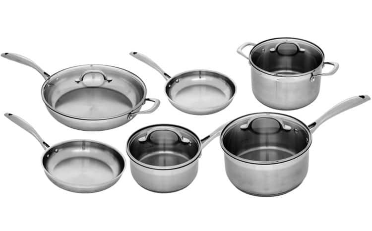 $300 Off Swiss Diamond Premium Steel Stainless 10 Piece Complete Kitchen Set - $200 + FS