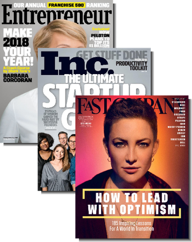 1 Year Subscription to Inc, Fast Company & Entrepreneur Magazine Bundle- $8.99 + FS