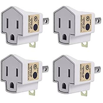 [Lightning Deal] JACKYLED 4 pack 3-2 Prong Adapters Grounding Converters  $7.11 @Amazon +FS /w Prime