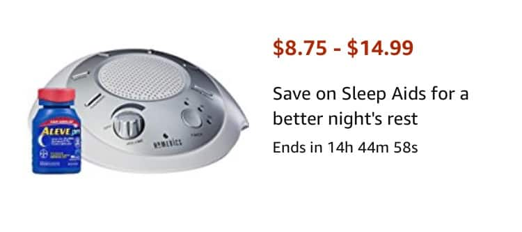 Save 30% on HoMedics White noise machine & Aleve PM