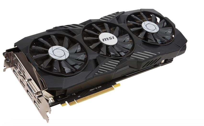 MSI GeForce GTX 1080 DUKE 8G OC for $509