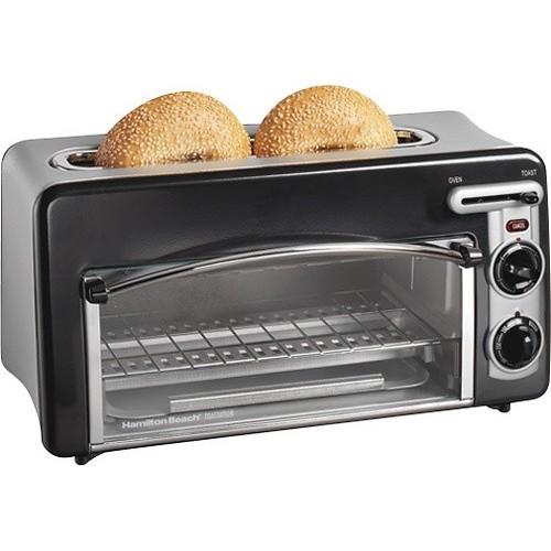 Hamilton Beach Toastation 2-Slice Toaster and Countertop Oven, Black (22708) $32.35