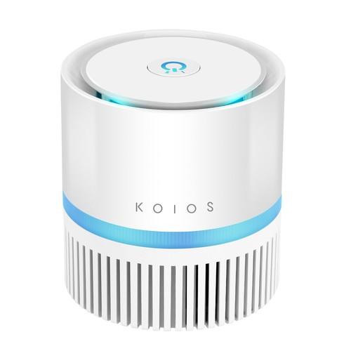 Air Purifier - KOIOS Desktop Air Filtration with HEPA Filter, Odor Allergen Allergies Eliminator $49.99