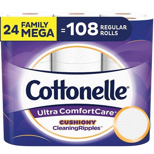 24-Ct Cottonelle Family Mega Rolls Ultra ComfortCare Toilet Paper S&S $23.36
