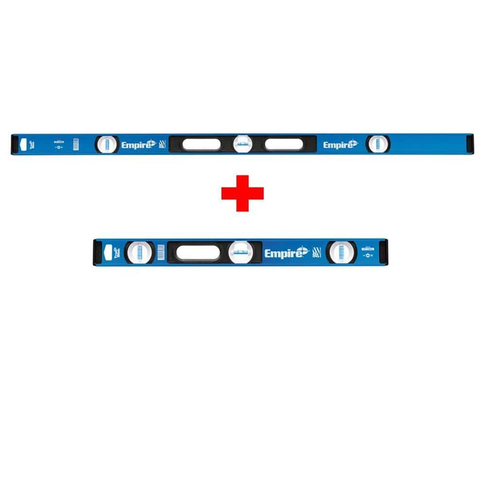 2-Pack Empire True Blue Aluminum I-Beam Levels (48