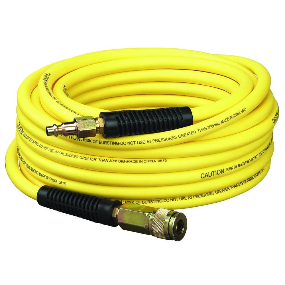 Dewalt 50 ft x 1/4 in Air Hose Hybrid Rubber/PVC with fittings - $19.88 @ Home Depot