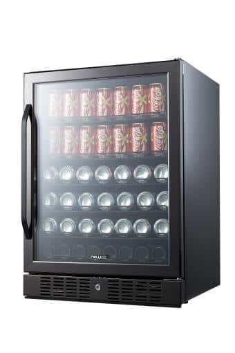 NewAir Black Stainless Steel Beverage Cooler - 177-Can Perfect Chill with FREE SHIPPING $743.96