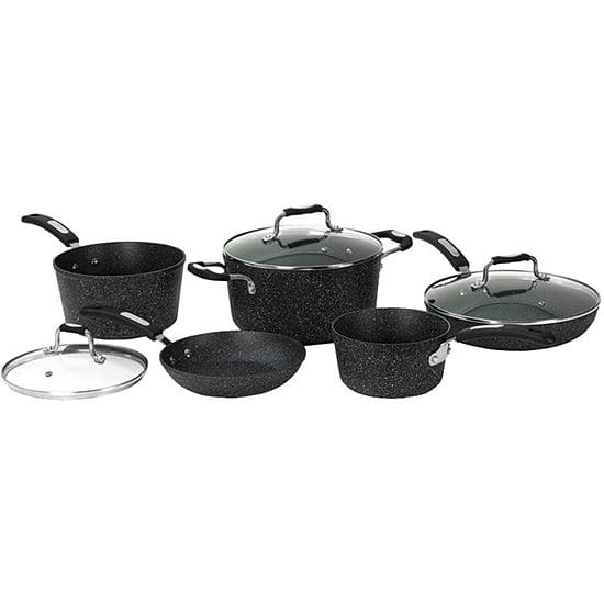 THE ROCK by Starfrit 8-Piece NonStick Cookware Set; JCPenny; $77