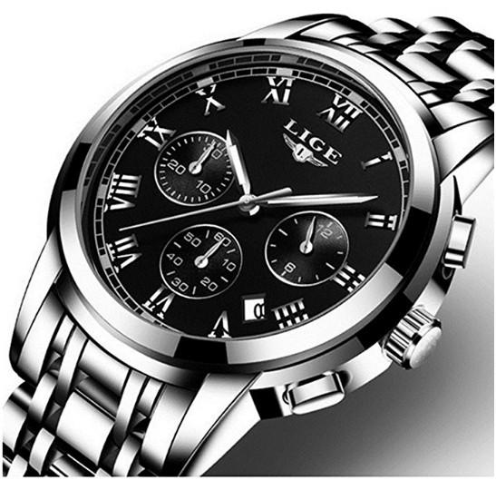 Men's Watches,Men's Roman Numeral Stainless Steel Wrist Watch $14.99 @Amazon