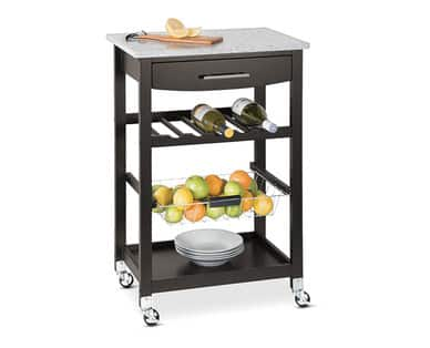 ALDI   IN STORE ONLY  SOHL Furniture Kitchen Island With Granite Top $49.99