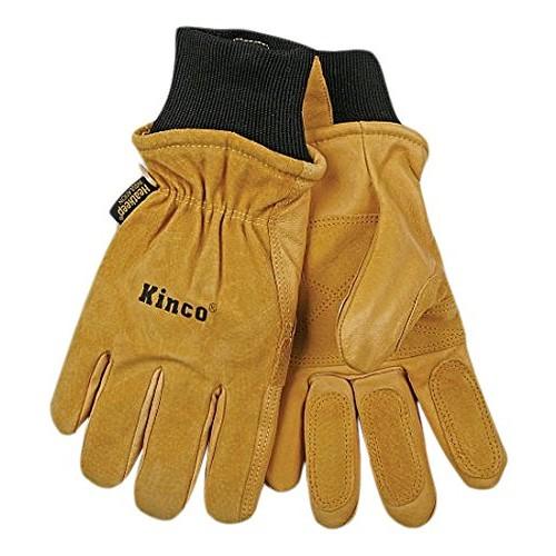 KINCO Men's Pigskin Leather Ski Gloves, Thermal Lining, Medium $6.36