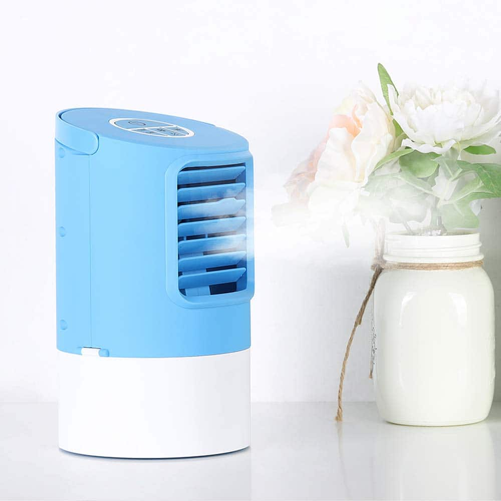 Mini Air Cooler Desktop Air Conditioner Fan $35.83