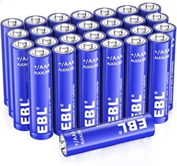 EBL 28-Count AAA Alkaline Batteries - 1.5V Triple A Long-Lasting Alkaline Battery with 10-Year Shelf Life $6.39