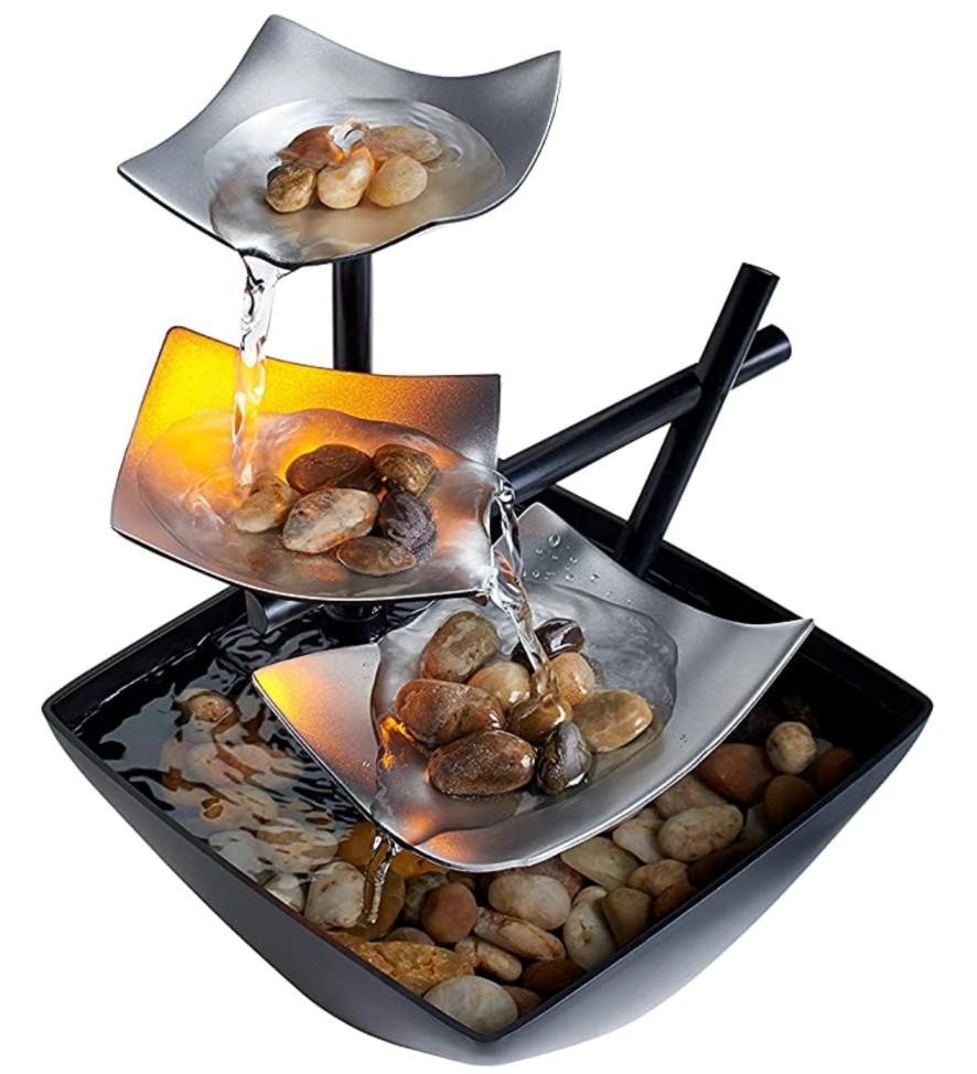 HoMedics Indoor 3-Tier Relaxation Tabletop Fountain $17.45