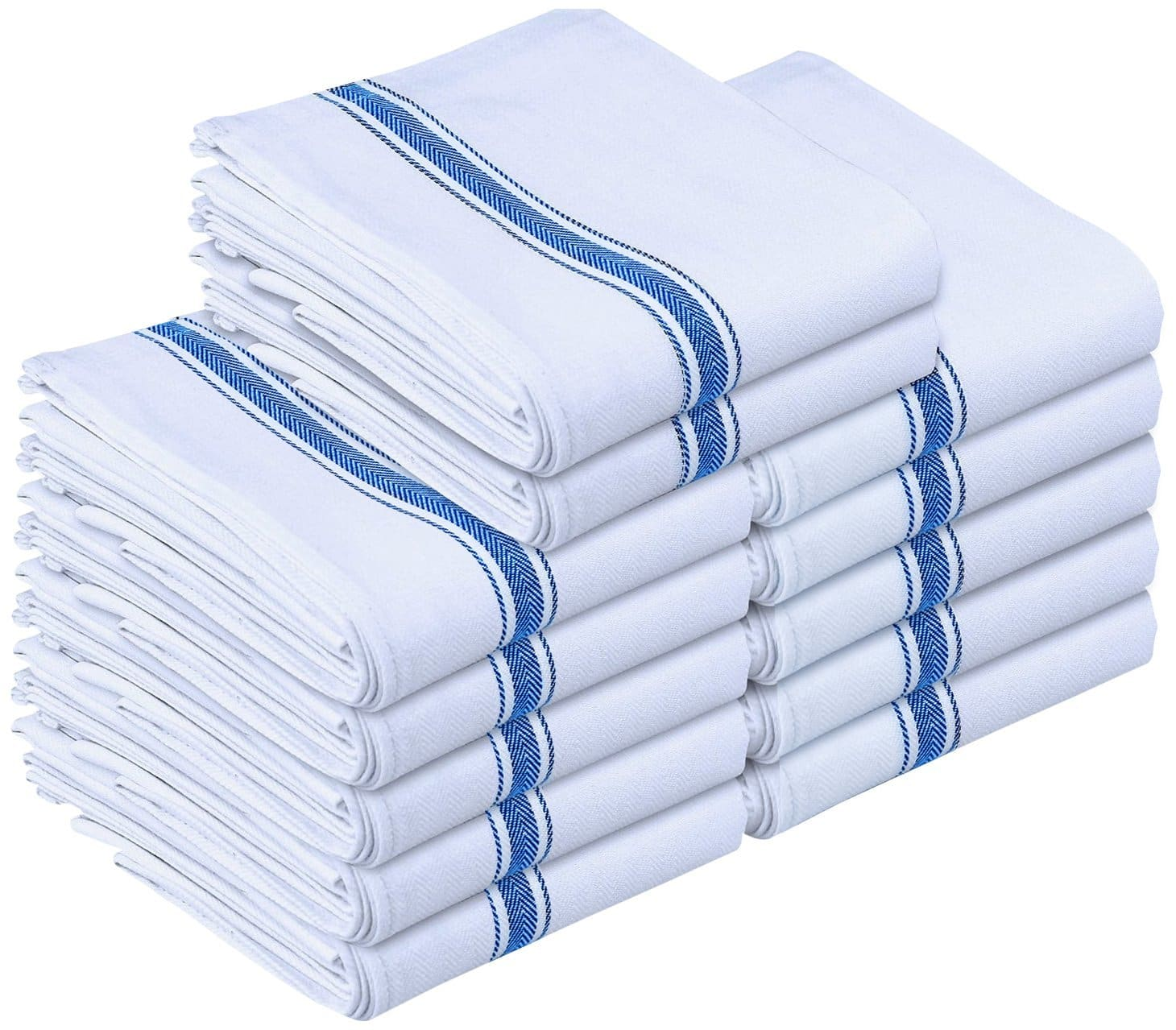 Kitchen Towels Dish Cloth (12 Pack) Machine Washable Cotton White $10.99 @Amazon