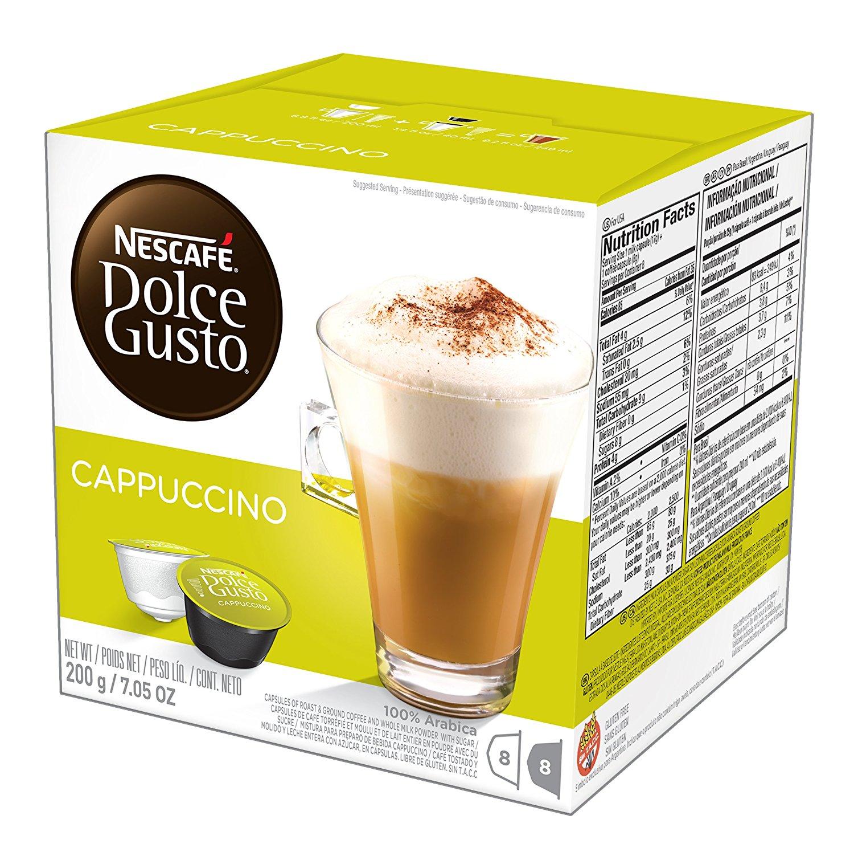 NESCAFÉ Dolce Gusto Coffee Capsules – Cappuccino – 48 Single Serve Pods, 7.05 oz (Makes 24 Specialty Cups) $18.78