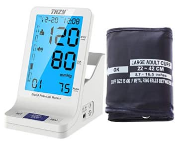 Automatic Digital Blood Pressure Monitor with Large Arm Cuff $18.99 Free Shipping